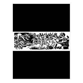 """""""Strangler Calaveras"""" circa MEXIKO 1942 Postkarte"""