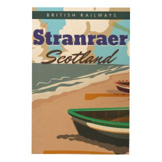 Stranraer Schottland Vintages Reiseplakat Holzwanddeko