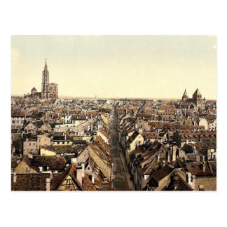 Strassburg, allgemeine Ansicht, Elsass Lothringen, Postkarte