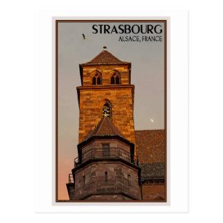 Straßburg - Kirchen-Sonnenuntergang Postkarte
