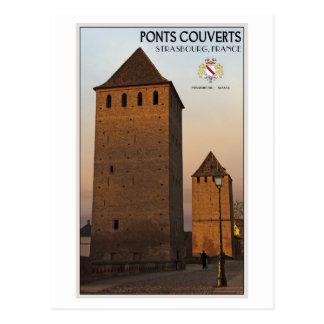 Straßburg Ponts Couvert Postkarte