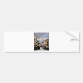 Straße, Antibes durch Eugene Boudin Autoaufkleber