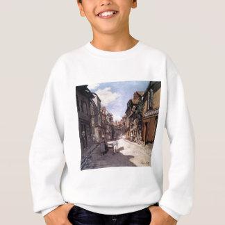 Straße des Bavolle Honfleur durch Claude Monet Sweatshirt