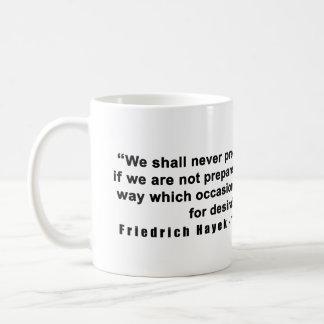 Straße Friedrich Hayek zum Kaffeetasse