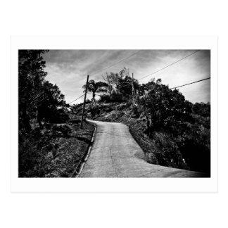 Straße herauf Hoch Postkarte