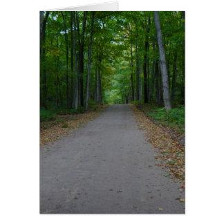 Straße im Holz Karte
