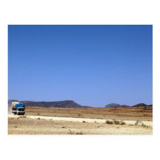 Straße in Äthiopien Postkarte