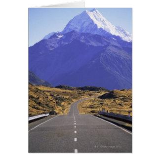Straße in Berg-Koch-Nationalpark, Neuseeland Karte