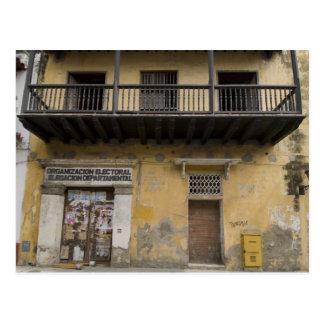 Straße in Cartagena, Kolumbien Postkarte