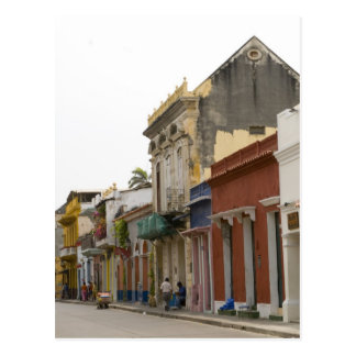 Straße in Cartagena Postkarte