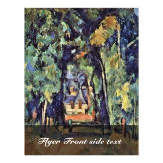 Straße in Chantilly, Allée Du Bois Bourillon à Cha Flyerbedruckung