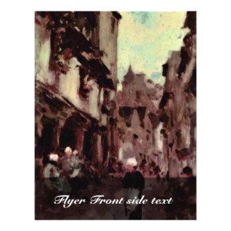 Straße in Dinan durch Grigorescu Nicolae Vollfarbige Flyer