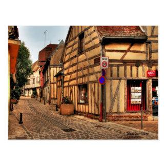 Straße in Postkarte Troyes Frankreich