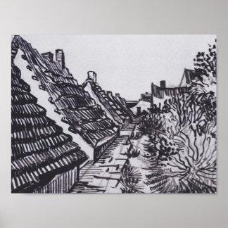 Straße in Saintes-Maries durch Vincent van Gogh Poster