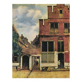 Straße Johannes Vermeers in Delft (circa 1660) Bedruckte Flyer