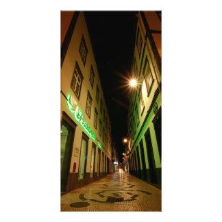 Straße nachts bilderkarten