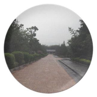 Straße u. Garten Flache Teller