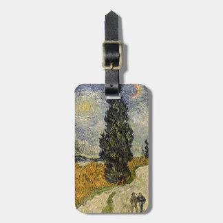Straße Vincent van Goghs   mit Zypressen, 1890 Gepäckanhänger