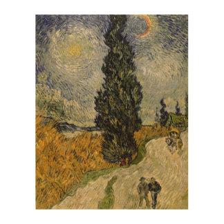Straße Vincent van Goghs | mit Zypressen, 1890 Holzleinwand