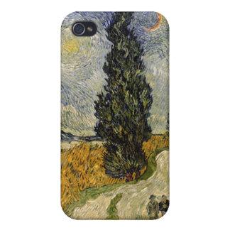 Straße Vincent van Goghs | mit Zypressen, 1890 iPhone 4 Cover