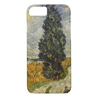 Straße Vincent van Goghs | mit Zypressen, 1890 iPhone 8/7 Hülle