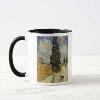 Straße Vincent van Goghs | mit Zypressen, 1890 Tasse