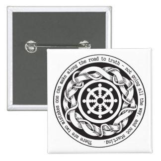 Straße zu Wahrheit Dharma Rad Buttons