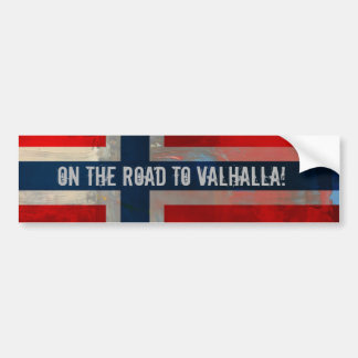 Straße zu Walhall-Autoaufkleber Autoaufkleber
