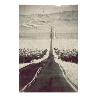 Straße zum Death Valley Fotodruck