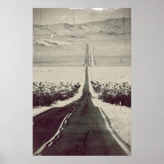 Straße zum Death Valley Poster