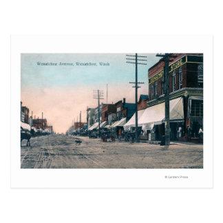 Straßen-Ansicht von Wenatchee Allee Postkarte