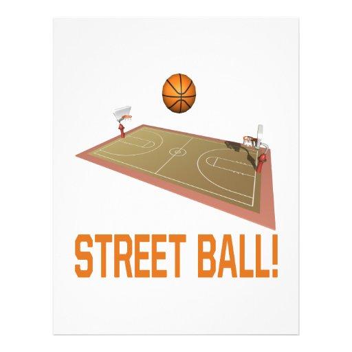 Straßen-Ball Personalisierte Flyer
