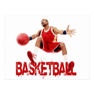 Straßen-Basketball-Getröpfel Postkarte