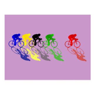 Straßen-Fahrrad-Straßenrennen-Radfahren Postkarte