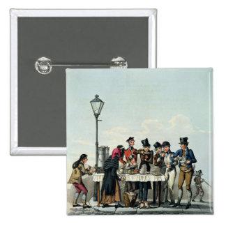 Straßen-Frühstück graviert durch G.Hunt, 1825 (eng Quadratischer Button 5,1 Cm