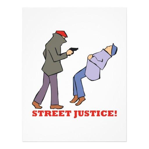 Straßen-Gerechtigkeit Personalisierte Flyer