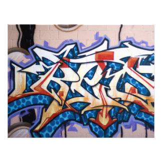Straßen-Graffiti-Kunst 21,6 X 27,9 Cm Flyer