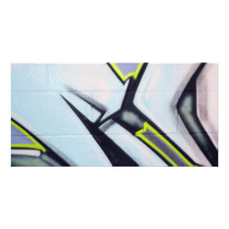Straßen-Graffiti-Pfeile Foto Grußkarte