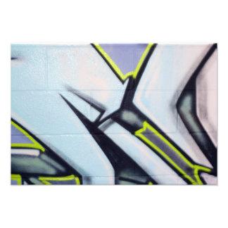 Straßen-Graffiti-Pfeile Photodruck