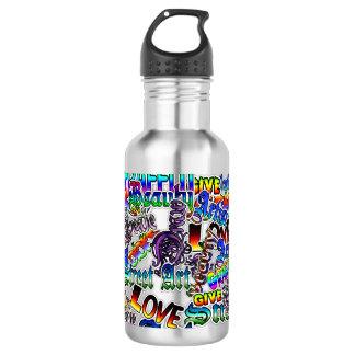 Straßen-Kunst-Graffiti-Künstler bezeichnet als Trinkflasche