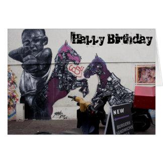 Straßen-Kunst-Teenager-Geburtstags-Gruß-Karte - Grußkarte