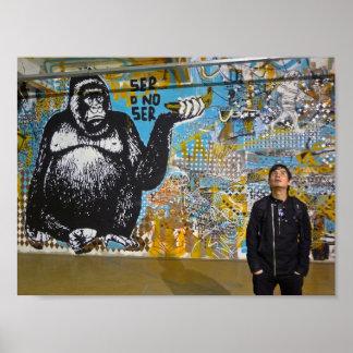 Straßen-Kunst von Buenos- Airesplakat Poster