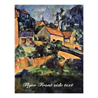 Straßen-Kurve in Montgeroult durch Paul Cézanne Individuelle Flyer