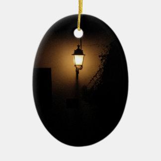 Straßen-Laternen-Nachtlampen-Oval-Verzierung Keramik Ornament