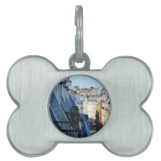 Straßen Paris Frankreich von einer Dachspitze Tiermarke
