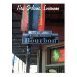 Straßen-Postkarte New Orleans Louisiana Bourbon