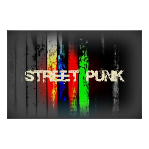 Straßen-Punk-Plakat