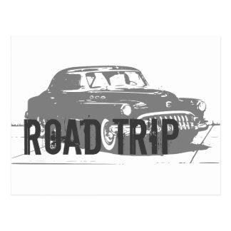 Straßen-Reise-Vintages Auto Postkarte