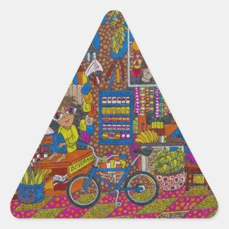 Straßen-Stall Dreiecks-Aufkleber