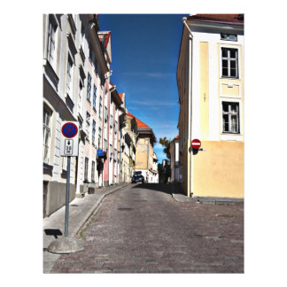 Straßen-Szene Estland Flyerdruck